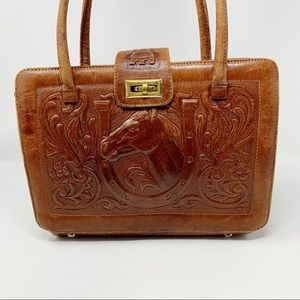VTG Mont-Abur Hand Tooled Leather Bag